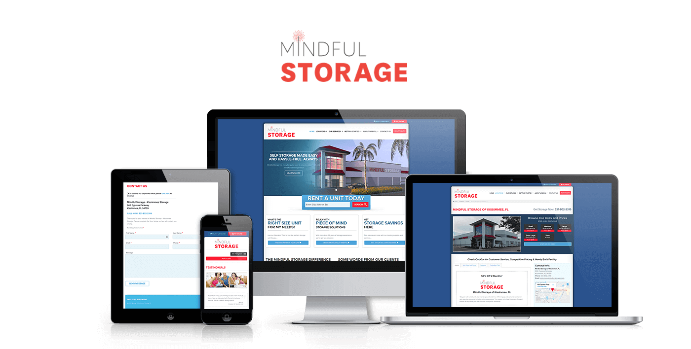 Mindful Storage Web Development By Media Giant®